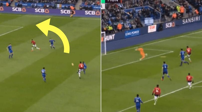 Paul Pogba assist vs Leicester