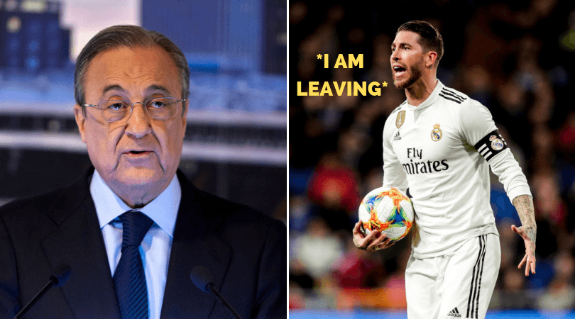 Sergio Ramos and Florentino Perez involved in dressing room row after loss to Ajax