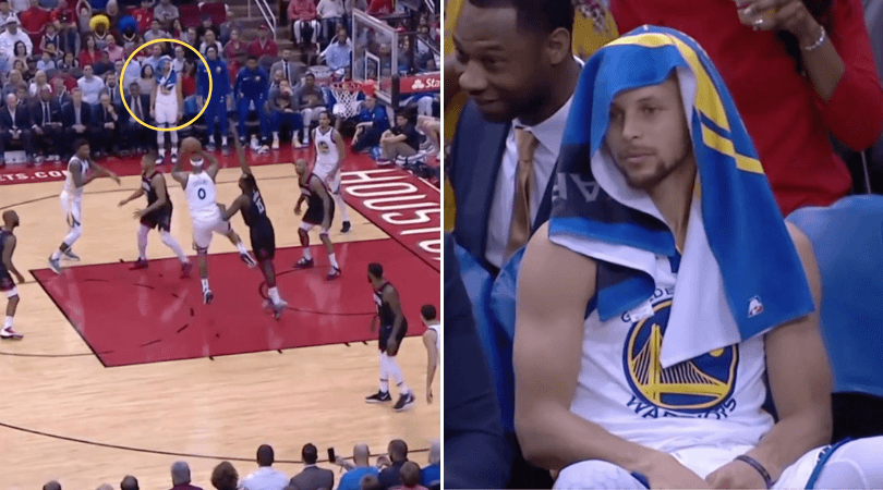 DeMarcus Cousins hilariously passes to an open Steph Curry who was on the bench