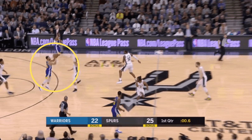 WATCH: Steph Curry hits 60 footer buzzer beater against San Antonio Spurs