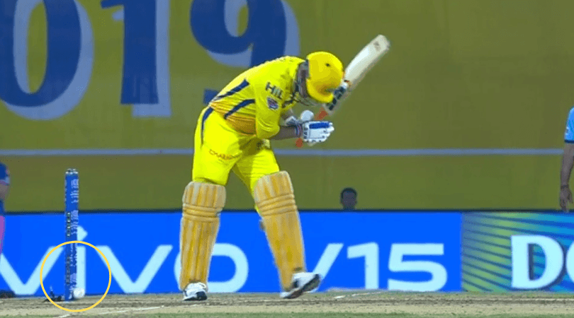 Dhoni gets lucky as bails don't fall