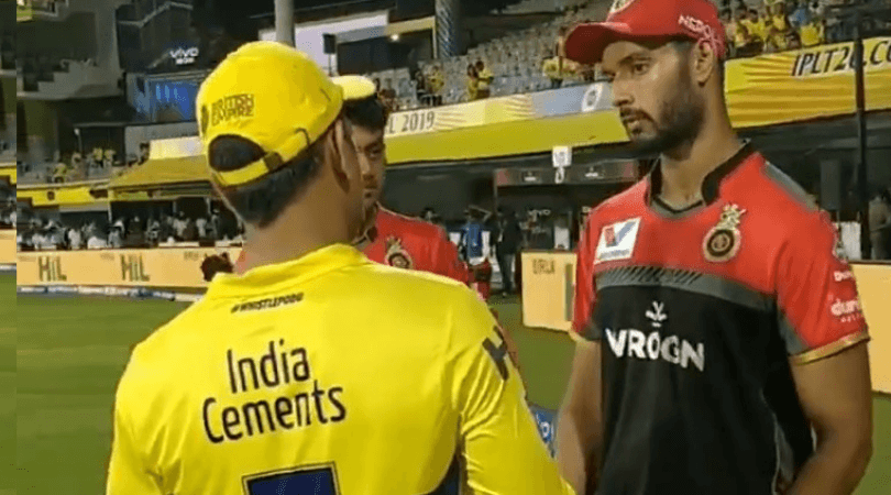 CSK captain gives suggestions to Shivam Dube