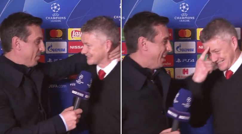 WATCH: Gary Neville's interview with Ole Gunnar Solskjaer post PSG win proves he is ready for the job