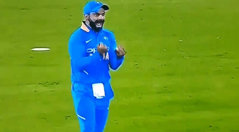 Virat Kohli catches Usman Khawaja off Kedar Jadhav