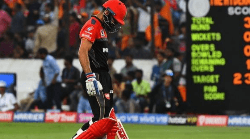 RCB captain comments on loss vs SRH