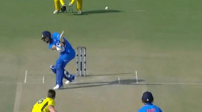 Virat Kohli's slap shot in 4th ODI vs Australia
