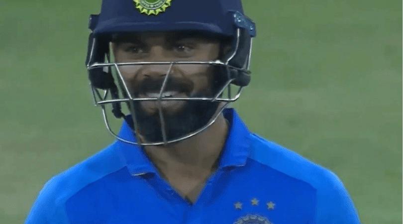 Virat Kohli's amazing reaction on Rohit Sharma's paddle shot