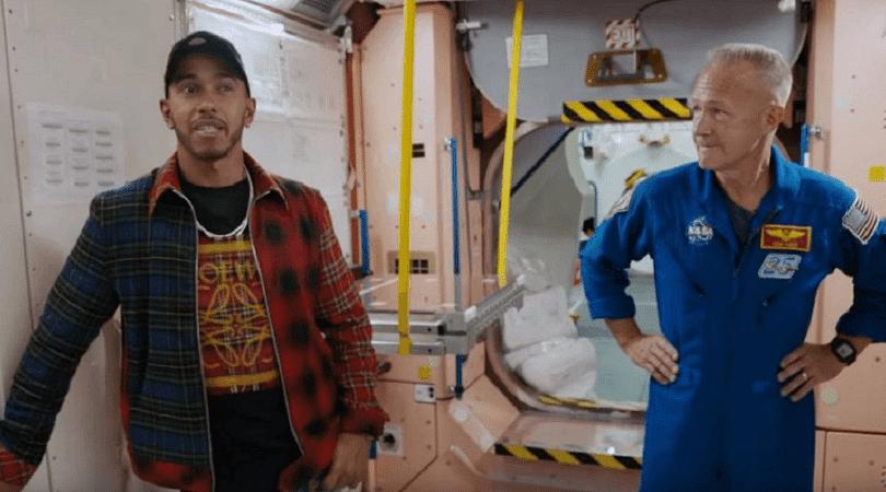 Lewis Hamilton questions NASA's moon landing