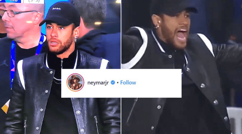 Watch Neymar S Reaction As He Watches Psg Lose The Game Against Manchester United The Sportsrush