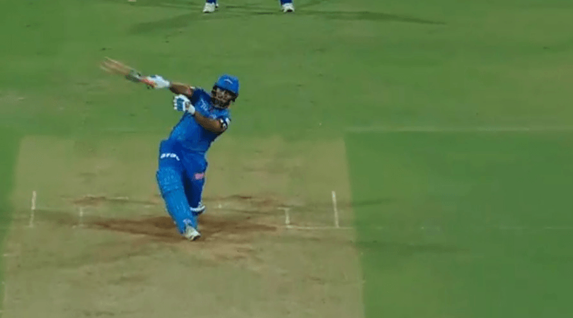 Rishabh Pant's helicopter shot and one-handed six