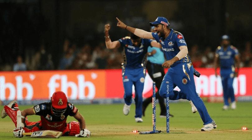 Rohit Sharma reacts to Lasith Malinga's last ball