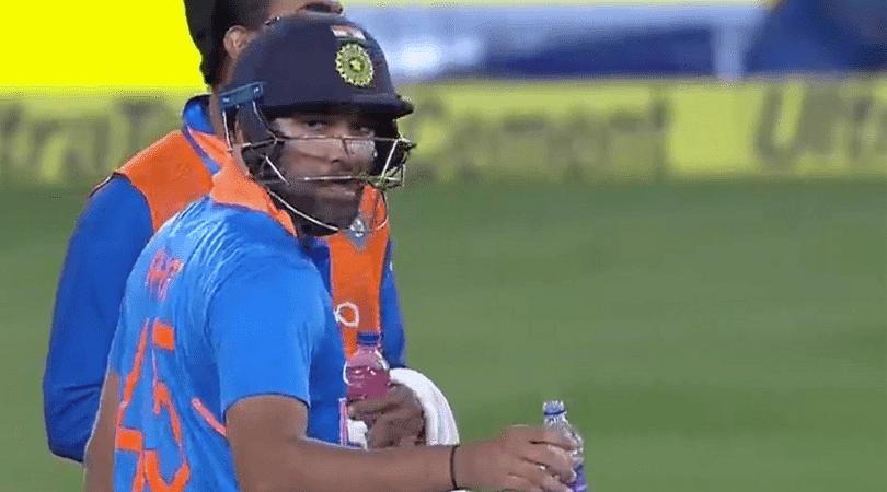 Rohit Sharma gets angry
