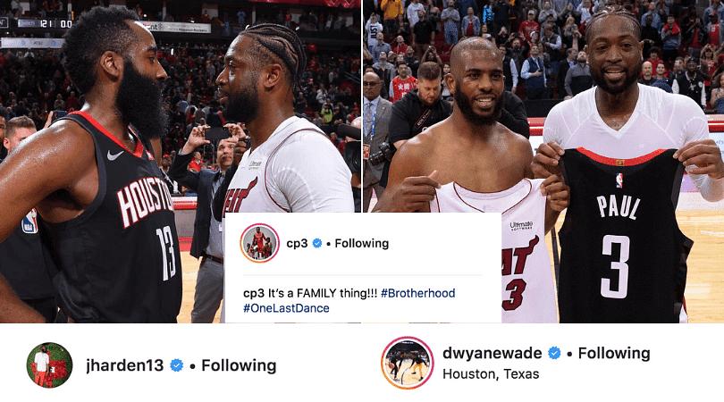 James Harden posts emotional farewell message for Dwyane Wade, Wade responds