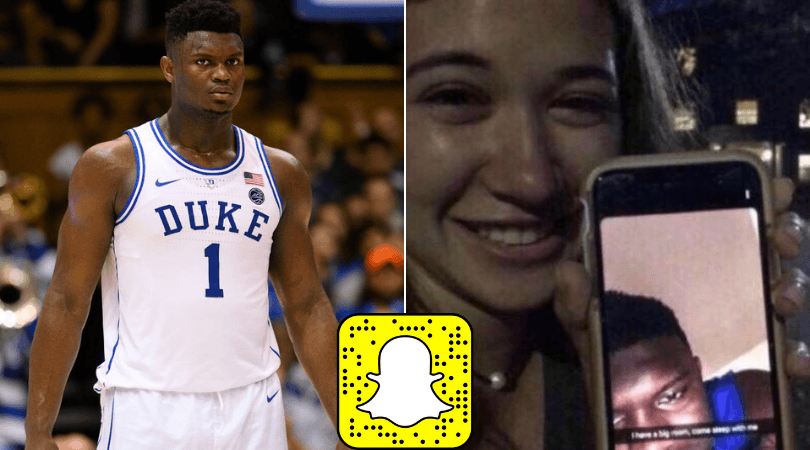 Zion Williamson exposed as he tried getting UNC student to his bedroom through Snapchat
