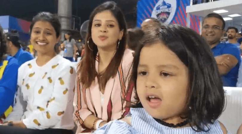 MS Dhoni's daughter Ziva Dhoni cheers for Papa