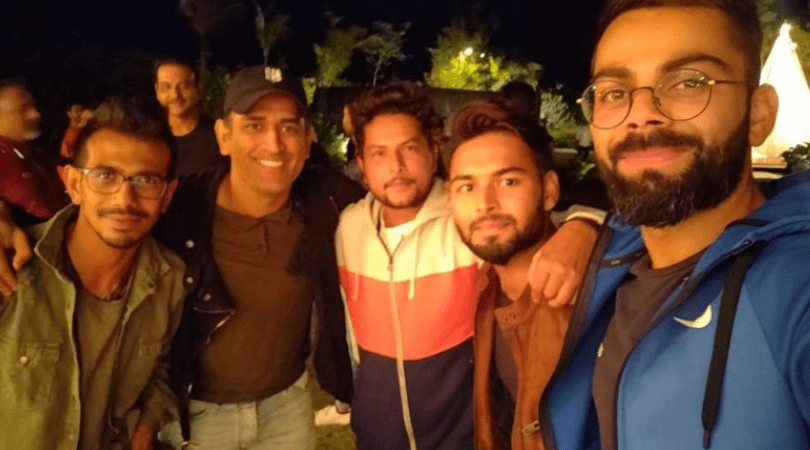 Pant's funny reaction on MS Dhoni hosting dinner