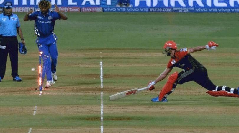 AB de Villiers run-out vs MI