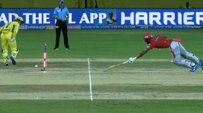 MS Dhoni's run-out attempt against KL Rahul
