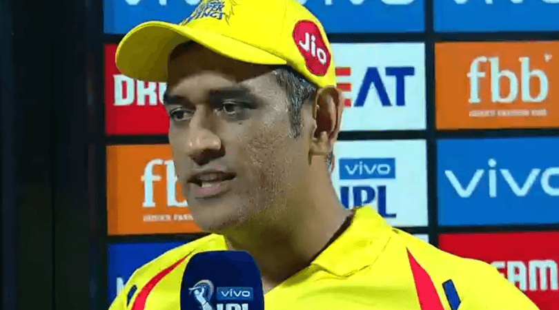 MS Dhoni comments on entering the ground