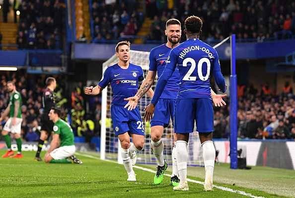 Watch: Callum Hudson-Odoi assist to Giroud in his first Chelsea Premier league start