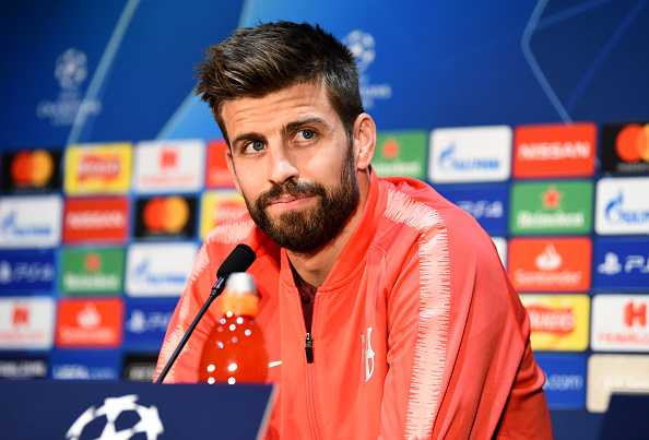 Gerard Pique reacts to his first return to Man Utd for Barcelona's next match in CL