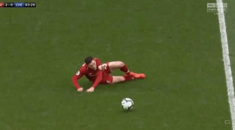 Andy Robertson slip vs Chelsea: Robertson almost did a Steven Gerrard against Chelsea