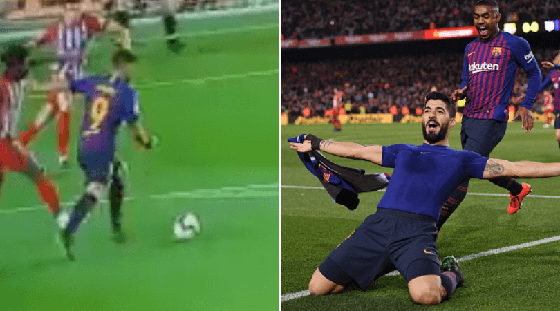 Suarez goal vs Atletico Madrid: Barca striker scores stunning opener against Atletico