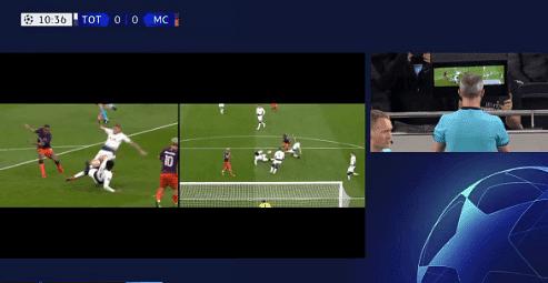 Sergio Aguero misses penalty vs Tottenham in dramatic VAR incident in CL