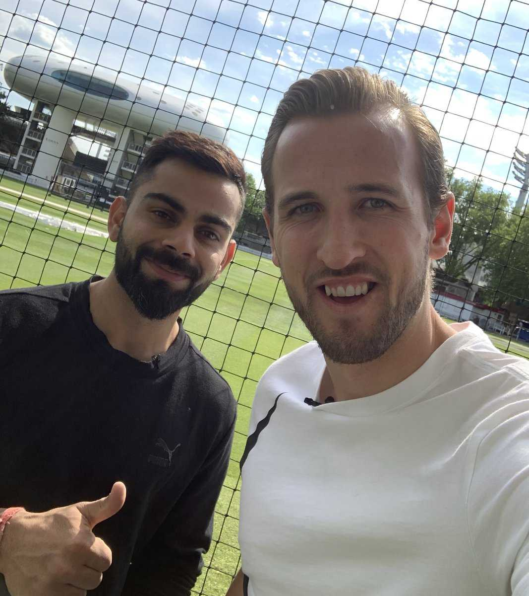 Virat Kohli and Harry Kane: Spurs star posts a photo with India's Skipper on Twitter