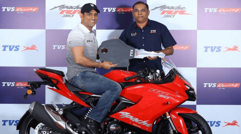 MS Dhoni launches TVS Apache RR 310 priced at 2.27 lakh