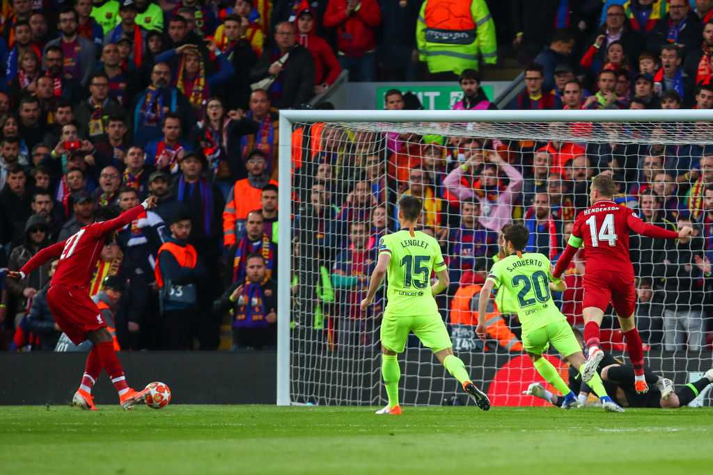 Divock Origi goal vs Barcelona: Liverpool forward scores poacher's goal to put Liverpool up on the night