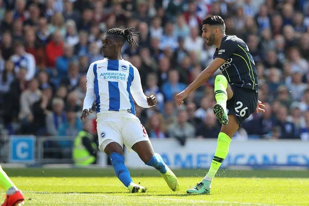 Riyad Mahrez goal vs Brighton City: Manchester City forward puts City 3-1 up and almost hands City the title