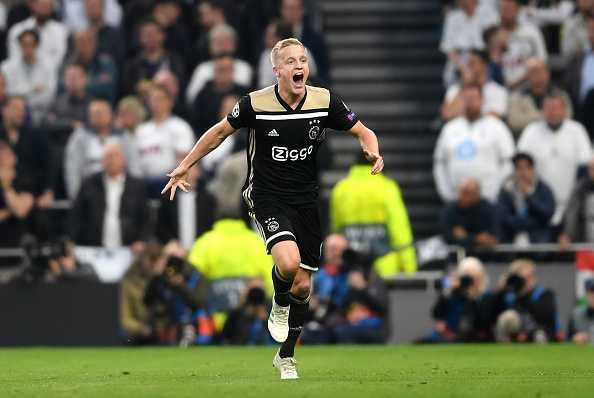 Donny Van de Beek goal Vs Tottenham: Watch Ajax youngster give lead for the Dutch outfit