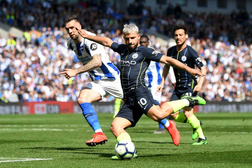 Sergio Aguero goal vs Brighton: Watch Man City star score wonderfully to equalise for City and make it 1-1
