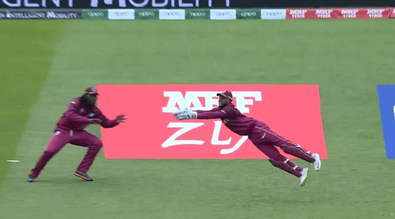 Shai Hope catch vs Pakistan: Watch Hope gabs exceptional diving catch to dismiss Babar Azam | CWC 2019