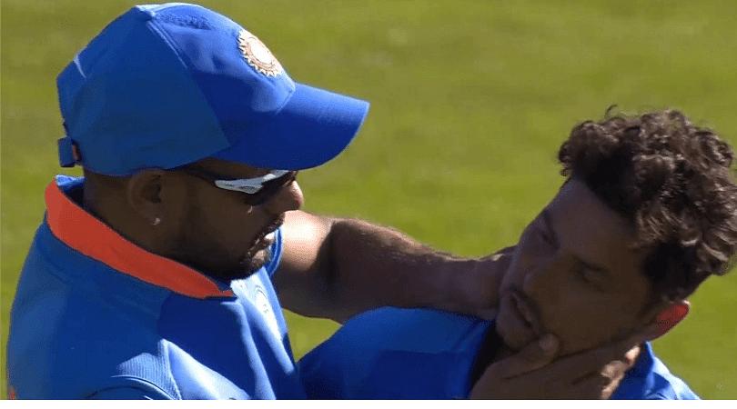 Kuldeep Yadav and Shikhar Dhawan involved in hilarious celebration after Mahmadullah's wicket
