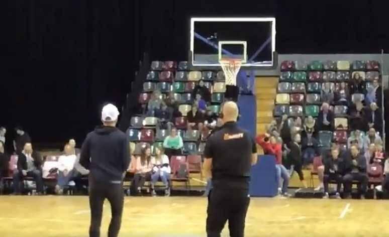 Watch: Australia Test captain Tim Paine scores perfect three-pointer; amazes the Basketball crowd