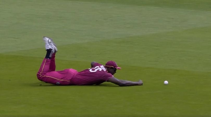 Carlos Brathwaite dives unnecessarily vs NZ: Watch WI all-rounder's funniest-ever fielding effort