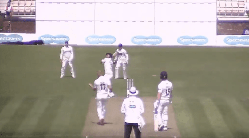 Dieter Klein Delivery: Watch ball fly out of Dieten Klein's hands midway through his run-up