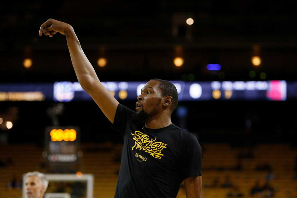 Kevin Durant cleared to practice today ahead of Game 5 of the NBA Finals vs Toronto Raptors