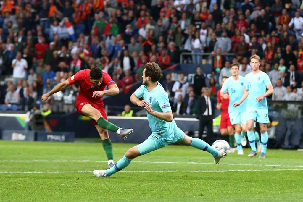 Goncalo Guedes goal Vs Netherlands: Watch Portuguese striker score to give 1-0 lead in Nation's league final
