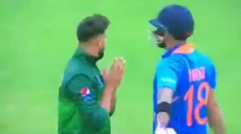 WATCH: Imad Wasim requests Virat Kohli to get out during India vs Pakistan 2019 World Cup Match