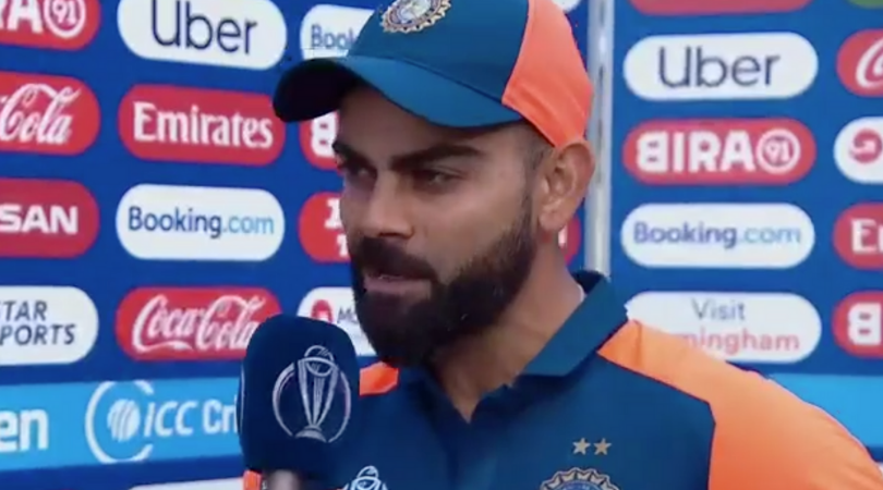 Virat Kohli explains why MS Dhoni batted slow in the slog overs vs England in 2019 Cricket World Cup