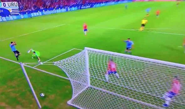Luis Suarez handball: Watch Uruguay Striker appeal for handball after Goalkeeper save against Chile