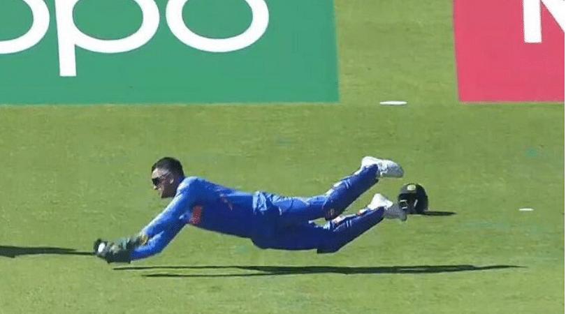 Watch MS Dhoni take a brilliant catch to dismiss Carlos Brathwaite against West Indies