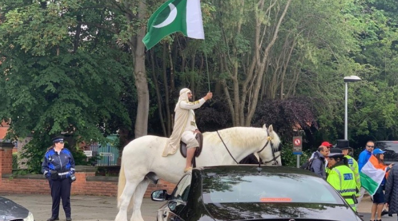 WATCH: Pakistani fan rides horse to reach Old Trafford for India vs Pakistan 2019 World Cup match
