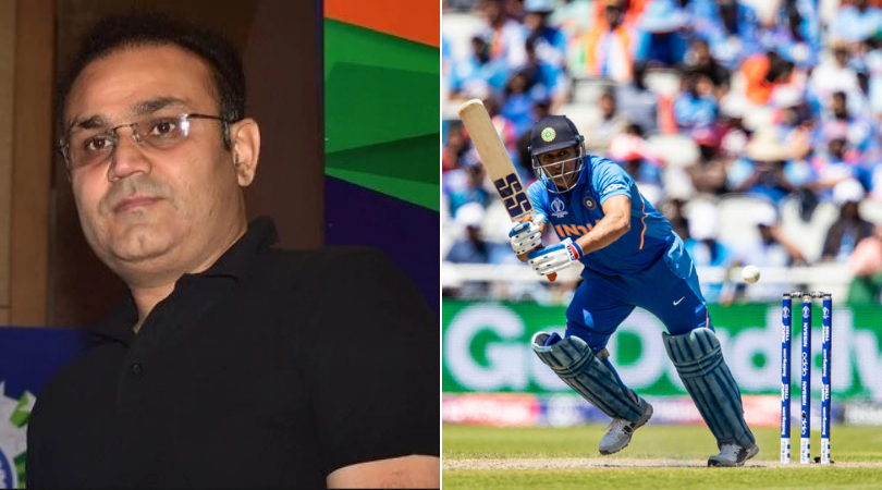 Virender Sehwag criticizes MS Dhoni for low strike rate against Fabian Allen in West vs Indies vs India 2019 World Cup match