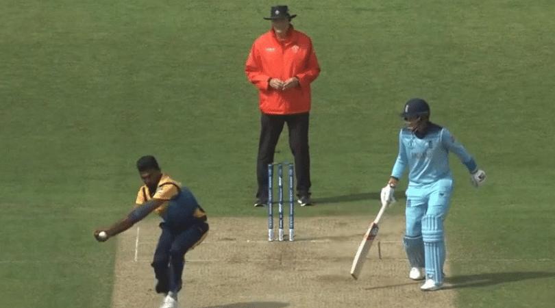 WATCH: Isuru Udana grabs breathtaking return catch to dismiss Eoin Morgan | ICC Cricket World Cup 2019