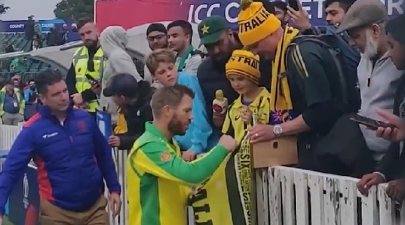 WATCH: David Warner gifts Man of the Match award to young Australian fan | ICC Cricket World Cup 2019