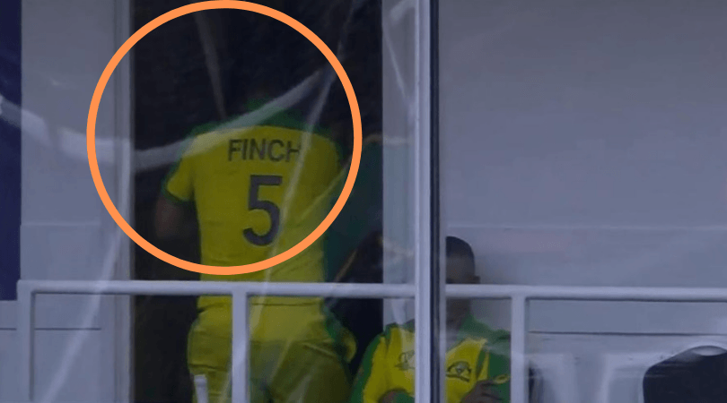 WATCH: Furious Aaron Finch hits dressing room's window after getting run-out vs India in 2019 Cricket World Cup
